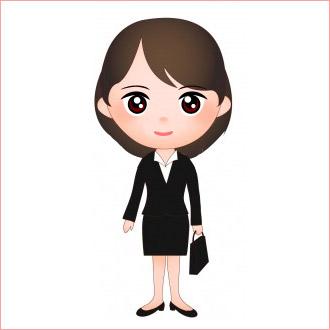面接服装女性イラスト